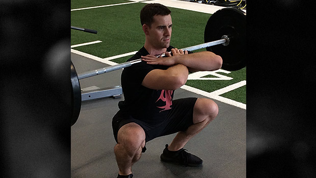 Cross Grip Front Squat