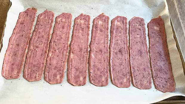 Turkey Bacon Raw